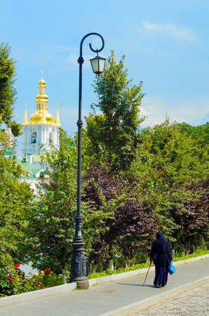 Panoramic view of the Great Lavra Belltower, Kiev Pechersk Lavra, Ukraine, Kiev Pechersk Lavra, Ukraine  photo