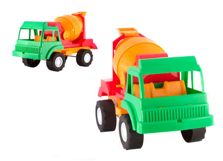 Car toy isolated in white