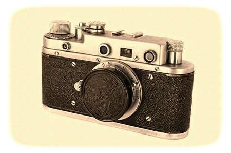 photocamera: Retro photocamera Stock Photo