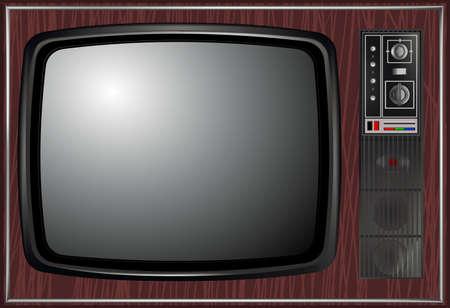 television aerial: Vector - Retro tv, illustration