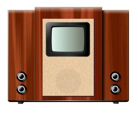 old tv: Old tv, vintage vector illustration