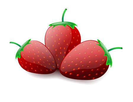 Strawberries. Vector Eps 10. Isolated on the white Illustration