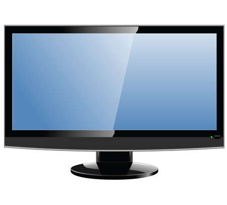 lcd tv monitor, vector illustratie