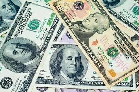 bil: great heap of dollars, money background