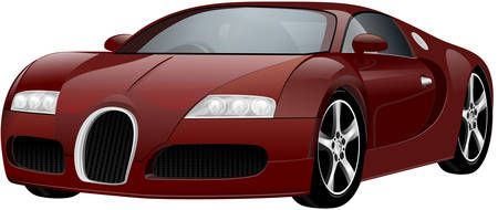 tuned: Vector luxury sports car. Original design