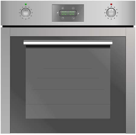 convection: Electric oven isolated on the white background