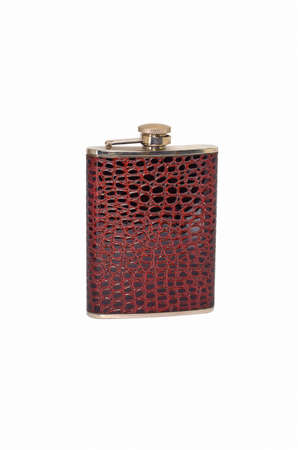 hip flask isolated on a white background