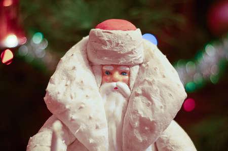 saint nick: A vintage Christmas illustration of Santa Claus Stock Photo