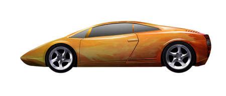 ergonomic: illustration of a yellow sports car