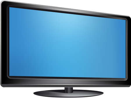 lcd: lcd tv monitor, vector illustration isolated on white