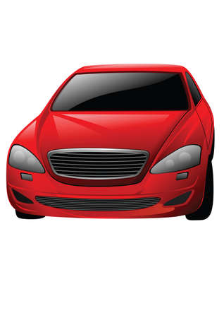 red car isolated on the white background