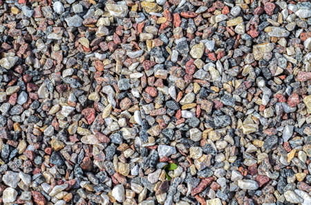 background of small crushed stone close up.