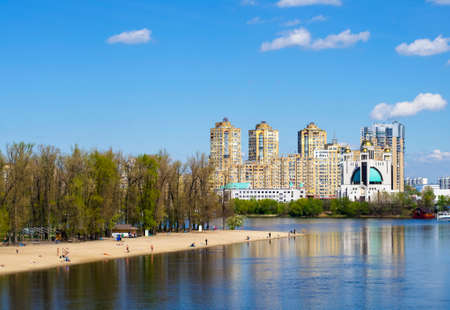 nice stay: Residential highrises near the river. Apartments. Kiev Ukraine