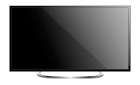 lcd: TV flat screen lcd plasma realistic vector illustration