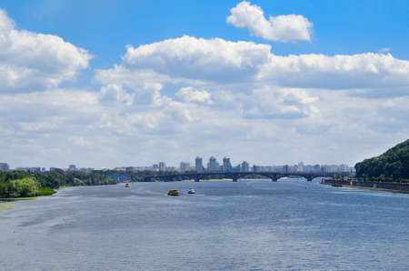 View of Kiev over the Dnieper. Ukraine Stock Photo