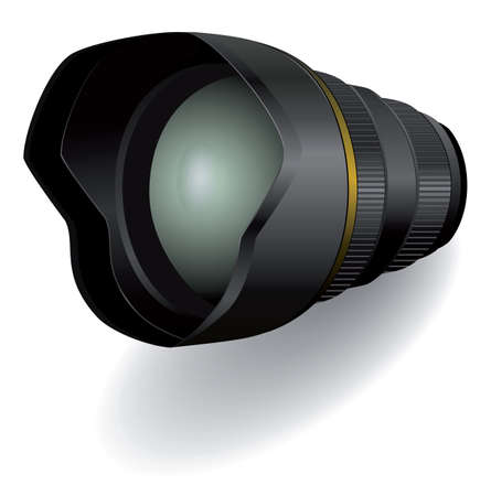 Camera photo lens, illustration
