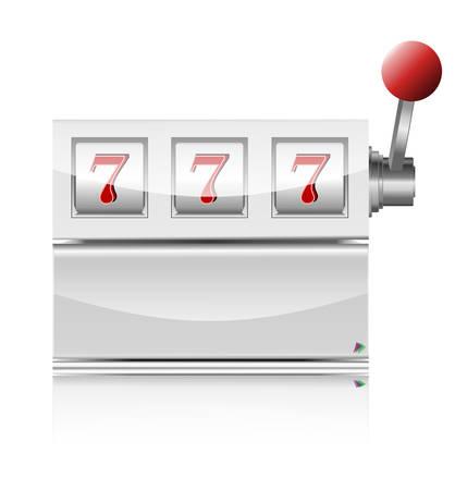 Winner triple sevens at slot machine