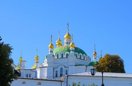 lavra: Orthodox Christian monastery, Pechersk Lavra in Kiev on green hills of Pechersk. Ukraine
