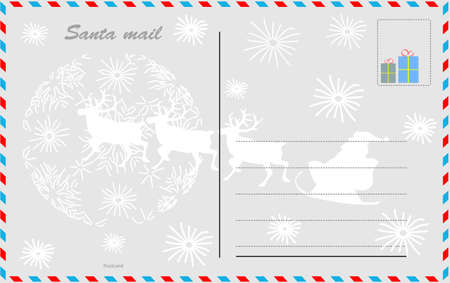 postcard design: Santa mail design postcard Illustration