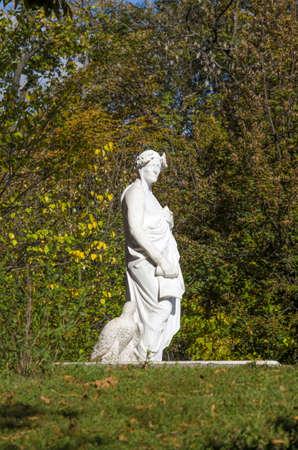 dante alighieri: The monument to famous Italian writer Dante Alighieri. A monument to famous Italian writer Dante Alighieri has been unveiled on Kyivs Volodymyrska Hill Stock Photo