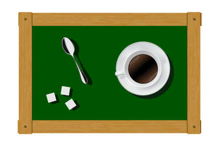 break in: Inspirations and ideas in the coffee break. Vector