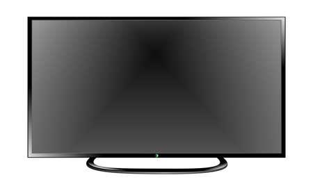 flat screen: TV flat screen lcd, plasma realistic vector illustration Illustration