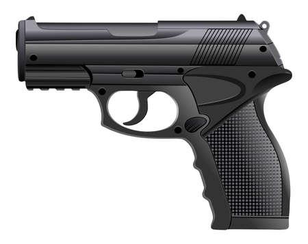 강력한 권총, 총기, 권총, 벡터 일러스트 레이션 일러스트