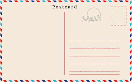 Vector post kaart met beige papier textuur Stock Illustratie