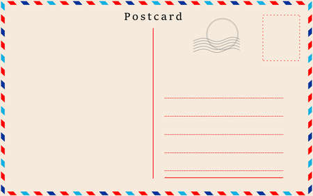 Vector postcard with beige paper texture