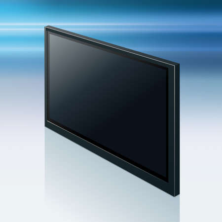 contrast resolution: Realistic TV screen. Modern stylish lcd panel, led type