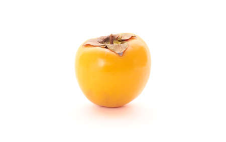 Fresh persimmon isolated on white background Stock Photo