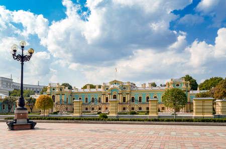 Mariinsky park on sunny weather, Kiev, Ukraine Editorial