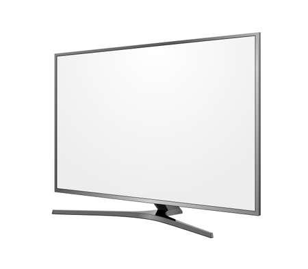 TV screen blank on white background Illustration