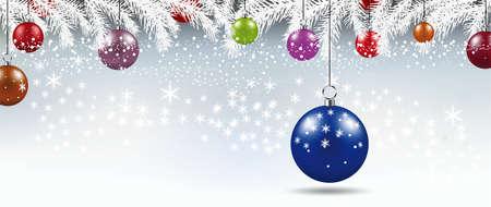 Background with Christmas balls illustration Stock Photo