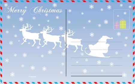 Travel postcard vector for merry christmas