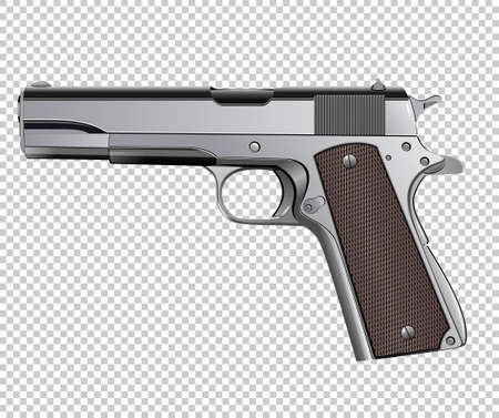 Colt pistol vector isolated on background