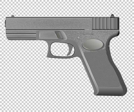 Pistol isolated on background vector