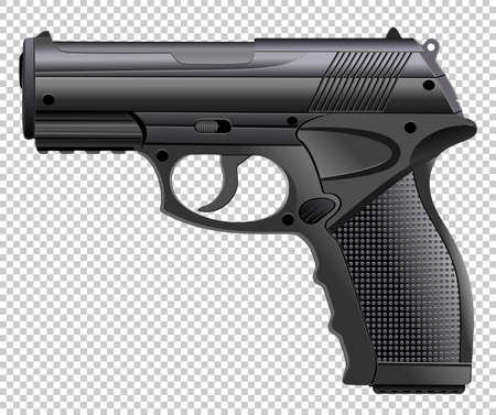 Powerful pistol, gun, handgun_ Vector