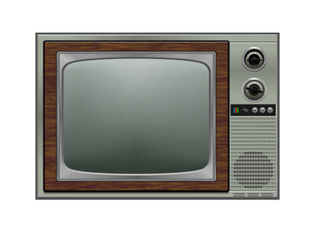 Retro tv, illustration Ilustracja