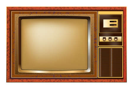 Retro tv on white background, vector illustration design.