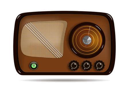 Old radio. Vector illustration of an old radio receive