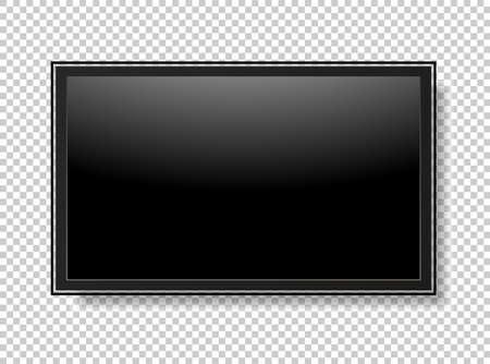 Realistic TV screen. Modern stylish lcd panel, led type. Vector illustration