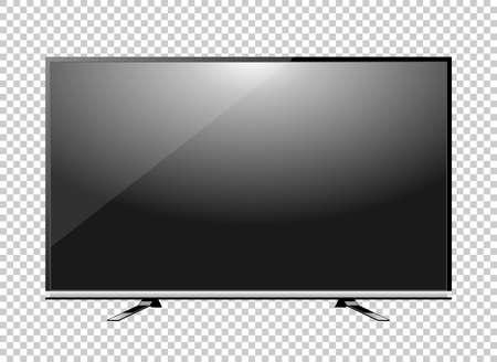 Black LED tv television screen blank on background Vektoros illusztráció