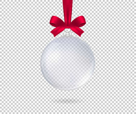 Transparent realistic christmas ball. Isolated. Vector illustration Stock Illustratie