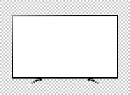 TV screen blank on background vector