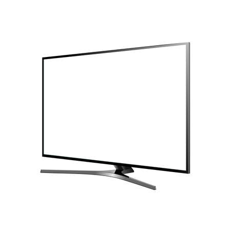 tv screen blank on the white background vector