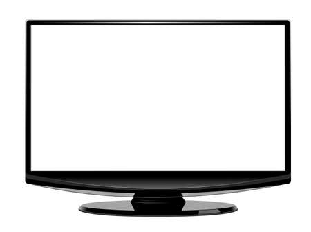 Computer display blank screen. Isolated on white background vector