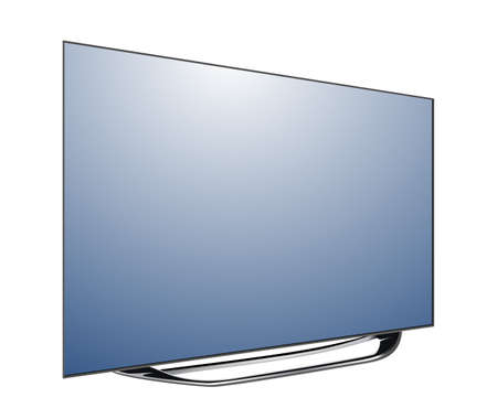 tv screen blank isolated on white background vector