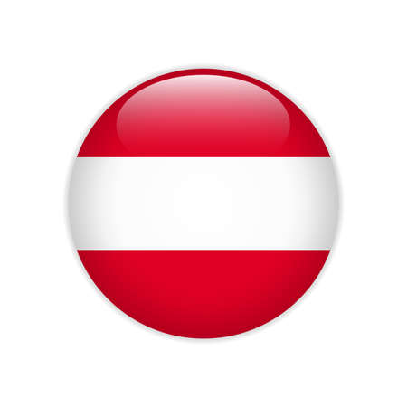 Austria flag on button Stock Illustratie