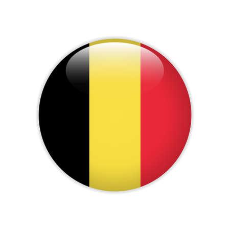 Belgium flag on button
